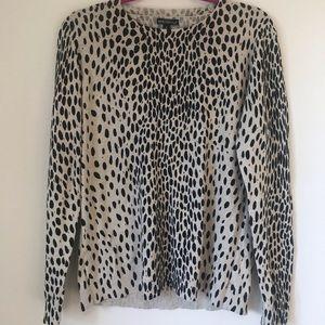 J. Crew Mercantile Leopard Print Sweater